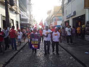 Manifestação em São Luís (Foto: Clarissa Carramilo/G1 )