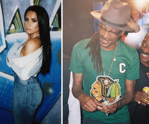 A cantora Demi Lovato e o rapper Snopp Dogg (Foto: Instagram)