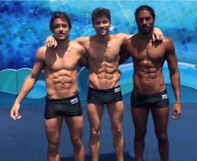 Kaiky Brito, Raphael Sander e Diogo Sales (Foto: Reprodução/Instagram)