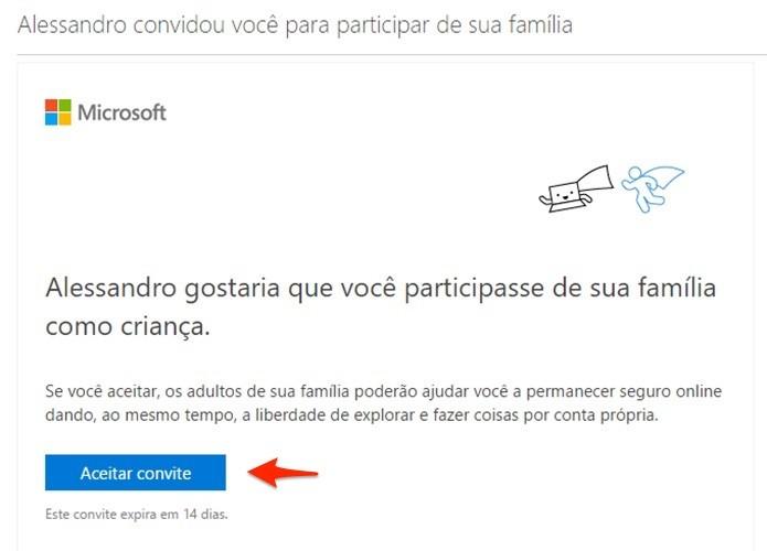 Email com o convite chegará no endereço adicionado. (Foto: Reprodução/Alessandro Junior)