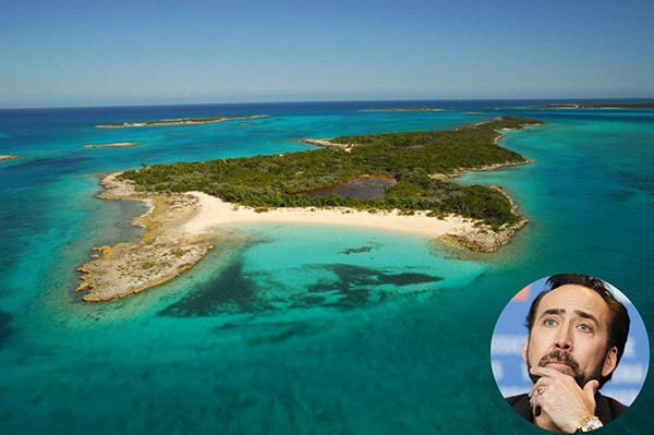 Nicolas Cage – Leaf Cay, Bahamas (Foto: Privateislandsonline.com / Getty Images)
