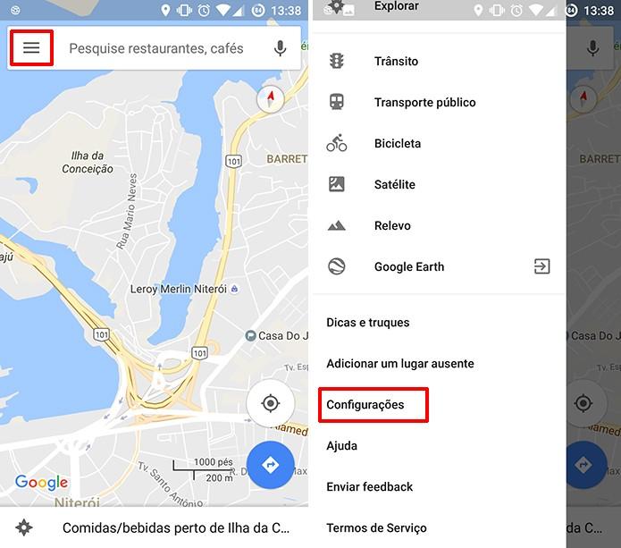 Google Maps pode ter imagens via satélite ativadas nas configurações do app para Android (Foto: Reprodução/Elson de Souza)