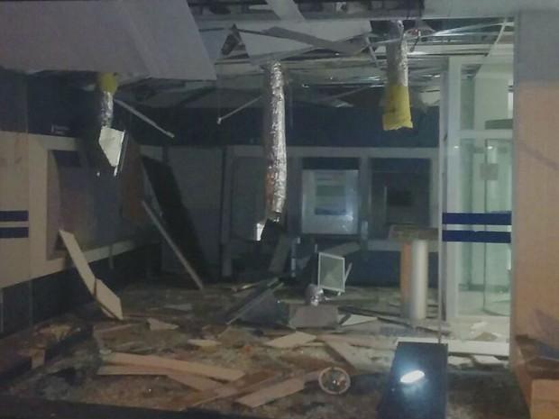 Explosão caixa eletronico Fronteira (Foto: Divulgação/Polícia Militar)