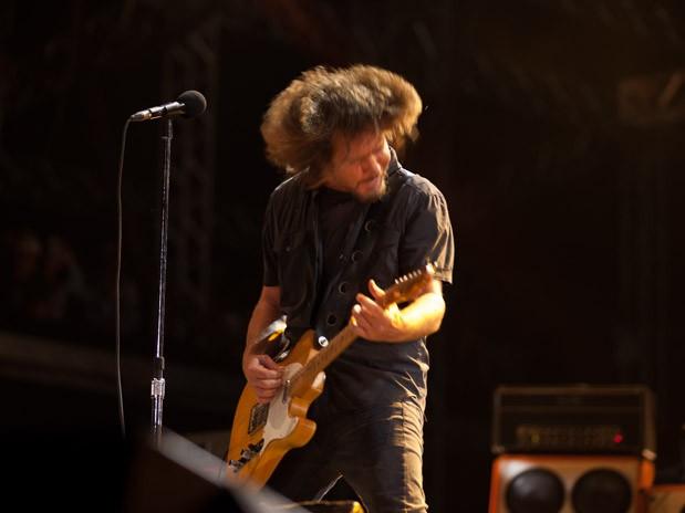 Pearl Jam no Lollapalooza 2013 (Foto: Samuel Kobayashi)