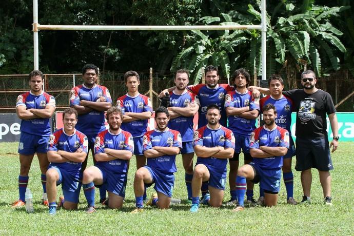 Campo Grande Rugby Clube no campeonato brasileiro Super Sevens Masculino 2015 (Foto: FotoJump/Dennys Fotos/Michel Leplus)