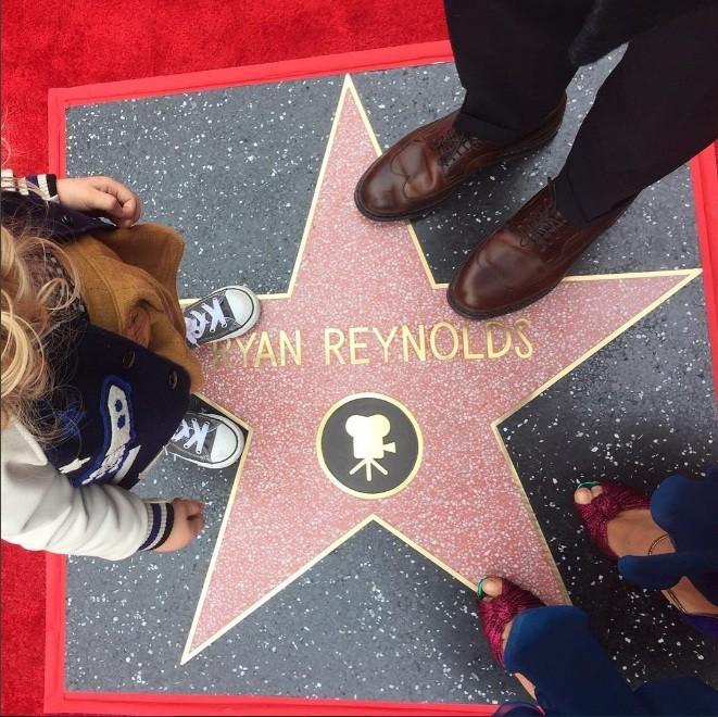 Estrela de Ryan Reynolds na Calçada da Fama (Foto: Instagram)