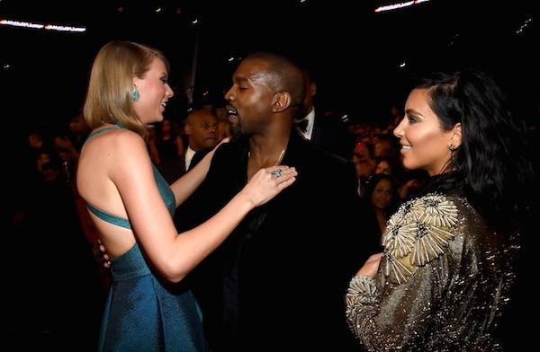 Taylor Swift, Kanye West e Kim Kardashian (Foto: Getty Images)