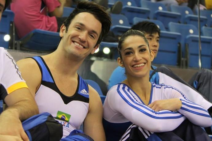Irmãos Diego e Daniele Hypolito vão às finais na etapa de Doha (Foto: Reprodução/Facebook)
