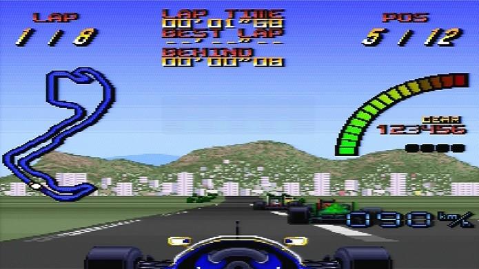 Melhores jogos de corridas do SNES: Nigel Mansells World Championship Racing (Foto: Reprodução/YouTube)