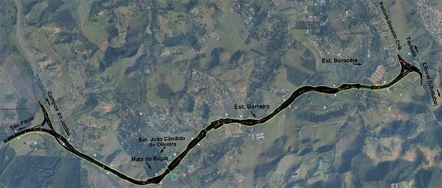 Prolongamento da Carvalho Pinto (Foto: Divulgação/Ecopistas)
