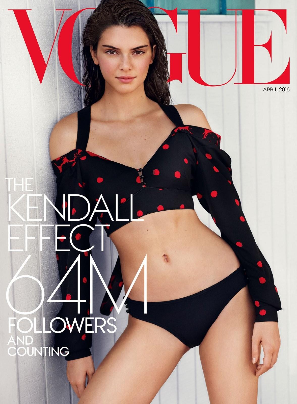 Kendall Jenner by Mario Testino para Vogue americana Foto Divulgao