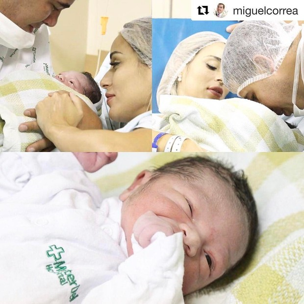 Miguel, filho de Leticia Santiago, com o pai (Foto: Reprodução/Instagram)