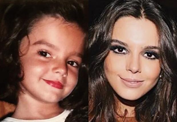 Giovanna Lancellotti quando criança e atualmente (Foto: Reprodução/Instagram)