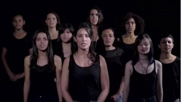 Giselle Itié faz campanha de combate à violência contra a mulher (Foto: Instagram / Reprodução)