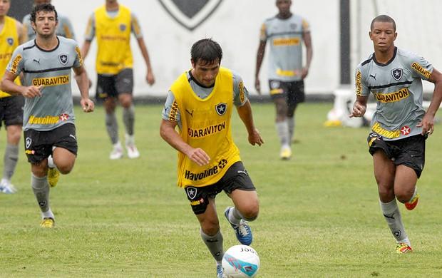 Lodeiro no treino do Botafogo (Foto: Cezar Loureiro / Agência O Globo)