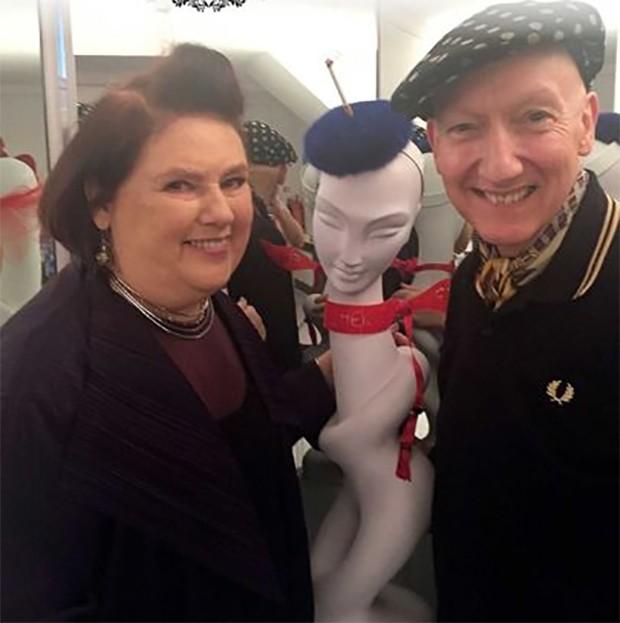 Suzy Menkes and Stephen Jones (Foto: @suzymenkesvogue)
