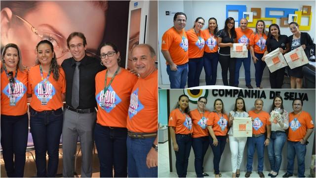 Publicitários e empresários receberam visita e elogiaram ação da emissora na capital acreana (Foto: Murilo Lima)