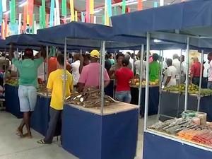 Mercado do Rio Vermelho, em Salvador, Bahia (Foto: Reprodução/ TV Bahia)
