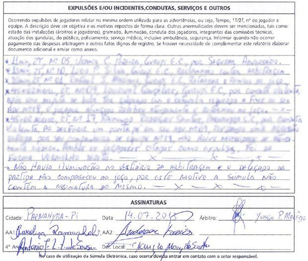 STJD multa FFP em R$ 10 mil por falta de delegado em jogo da Série D (Foto: Reprodução/CBF)