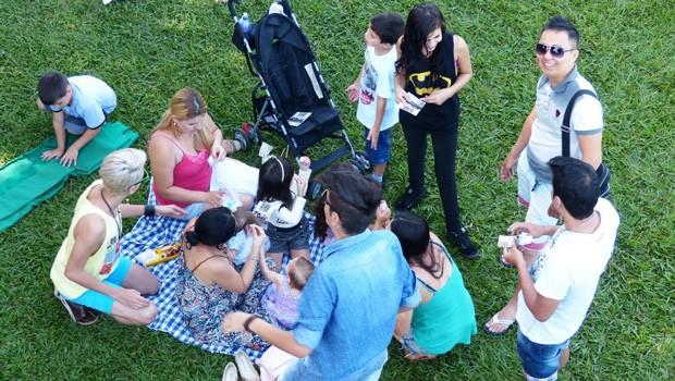 Famílias inteira aproveitaram a tarde de sol, no RPC na Praça (Foto: Divulgação/RPC)