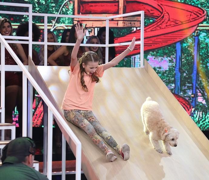 Mellody é a primeira a se apresentar na semifinal (Foto: Carol Caminha/Gshow)