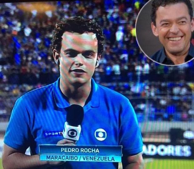 Fernando Rocha vibra com conquista do filho (Foto: Reprodução)