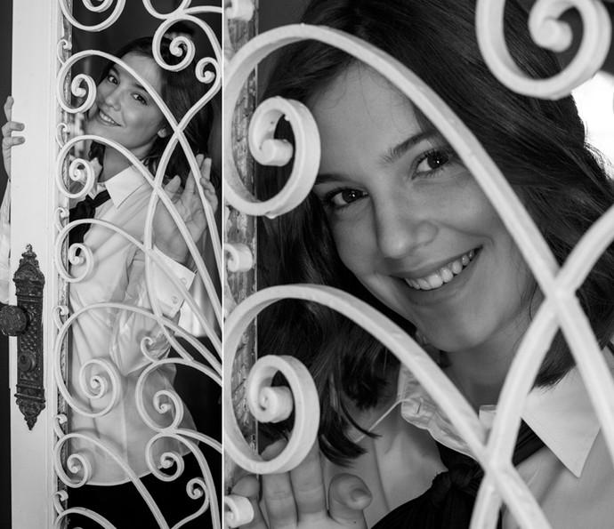 Com sorriso doce, Alice conquista todos ao seu redor e não esconde: 'Eu gosto muito mais de ver o melhor das pessoas' (Foto: Inácio Moraes/Gshow)