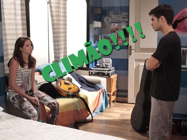 É claro que a Ju ficou de bico, né? Será que Gil resolve essa parada? (Foto: Malhação / Tv Globo)