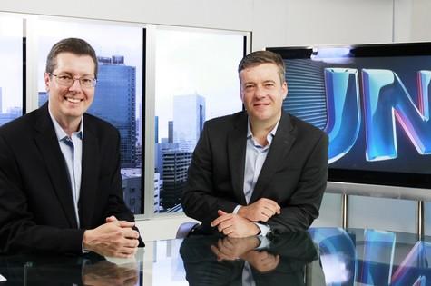 Márcio Gomes e Roberto Kovalick (Foto: TV Globo)