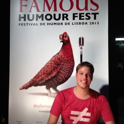 Fabio Porchat em Portugal (Foto: Arquivo pessoal)