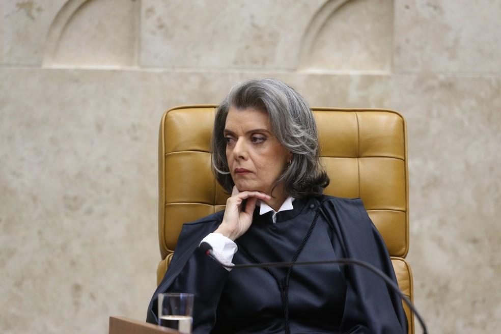 A presidente do STF, ministra Cármen Lúcia, durante a posse dela como chefe da Corte, no ano passado (Foto: André Dusek/Estadão Conteúdo)