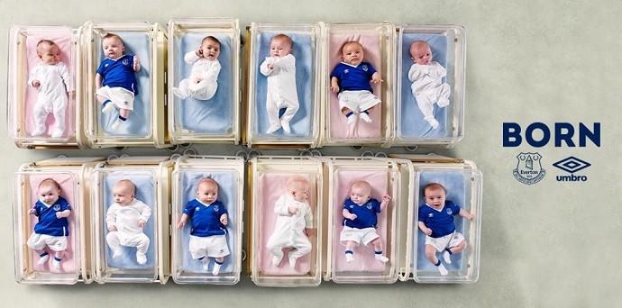 Bebês novo uniforme Everton Umbro blog