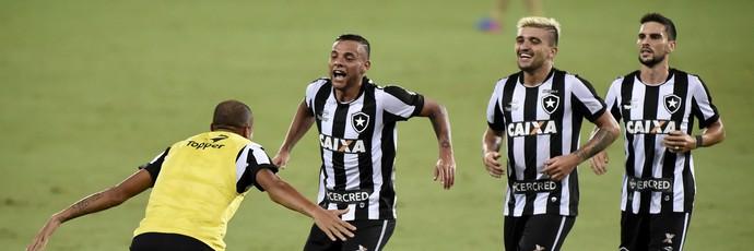 Guilherme comemora gol na vitória do Botafogo sobre o Sport (Foto: André Durão)