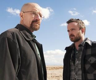 As aventuras de Mr.White (Bryan Cranston) e Jesse (Aaron Paul) em 'Breaking bad' aparece entre os programas favoritos do ator   AP Photo