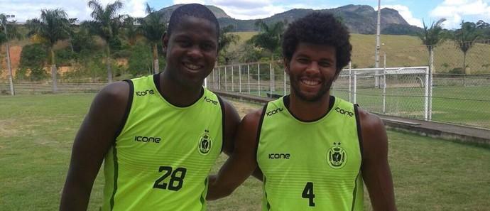 Jeferson Lopes e Danilo Freire, zagueiros do Real Noroeste (Foto: Arquivo Pessoal)