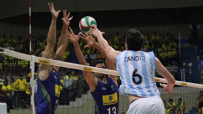 Brasil x Argentina - vôlei - Natal (Foto: Fabiano de Oliveira)
