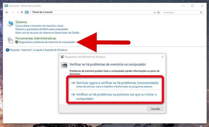 Checando a memória RAM no Windows 10 (Foto: Reprodução/Felipe Alencar)