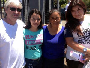 Família dá apoio para candidata ao Vestibular da Unicamp 2014  (Foto: Marcello Carvalho/G1)