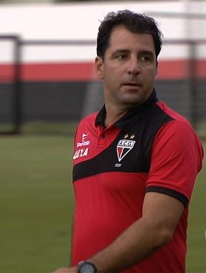 Marcelo Martelotte, técnico do Atlético-GO (Foto: Reprodução/TV Anhanguera)