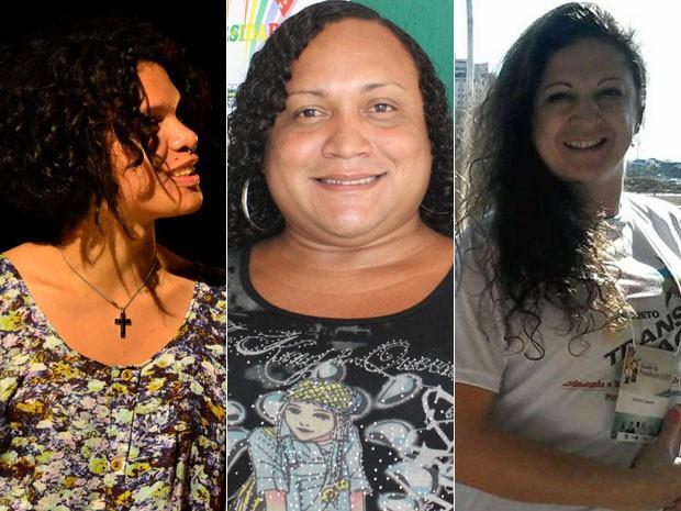Maria Clara, Maria Laura e Débora usaram nome social no Enem 2014 (Foto: Arquivo pessoal/Catarina Costa / G1)