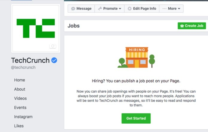 Facebook permite que recrutadores utilizem a rede social para divulgar vagas de emprego (Foto: Facebook permite que recrutadores utilizem a rede social para divulgar vagas de emprego)