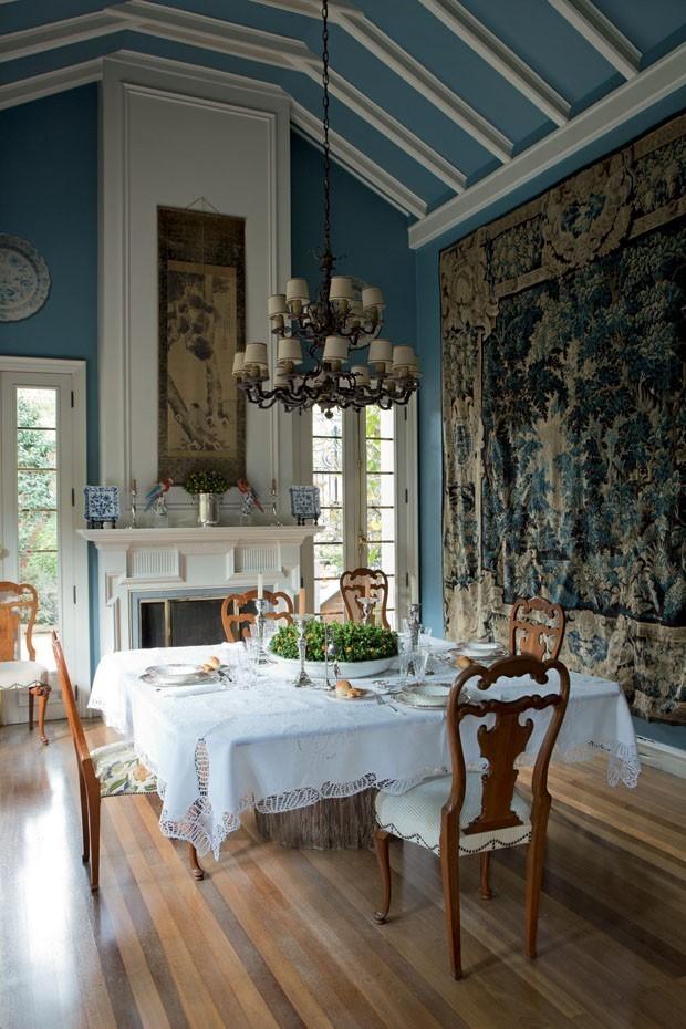 Top 10 salas de jantar azuis (Foto: Divulgaçao)