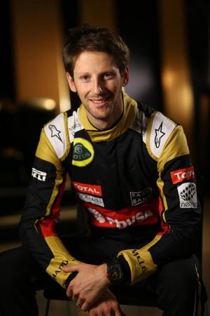 Romain Grosjean é um dos titulares da Lotus em 2015 (Foto: Divulgação)
