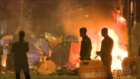 3 PMs ficam feridos em confronto com moradores na Cracolândia