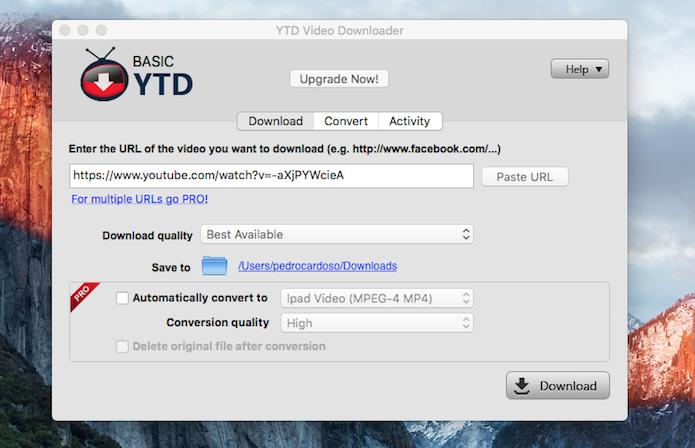 YTD Video Downloader grava em Full HD (Reprodução)