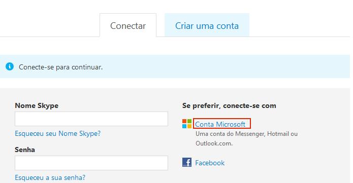 Clicando na opção Conta Microsoft (Foto: Reprodução/Edivaldo Brito)