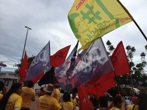manifestações em Palmas (Foto: João Guilherme Lobasz/G1)