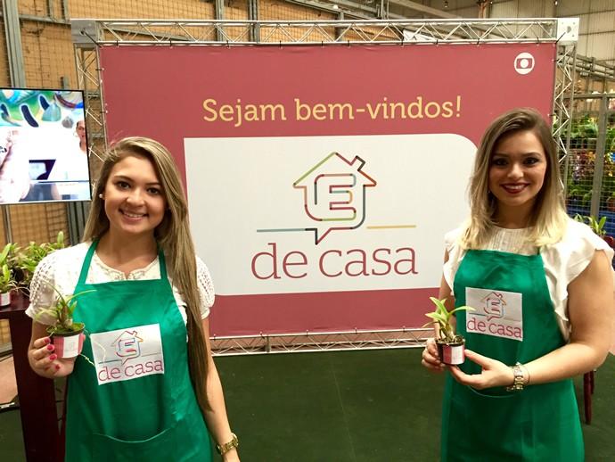 TV Anhanguera recebeu o público da 22ª Exposição Nacional de Orquídeas com flores. (Foto: TV Anhanguera)