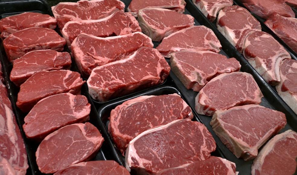 Foto de arquivo mostra carne bovina a venda em mercado nos Estados Unidos  (Foto: AP Photo/J. Scott Applewhite, File)
