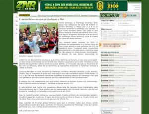 site do Zico  (Foto: Divulgação/Site Oficial Zico)